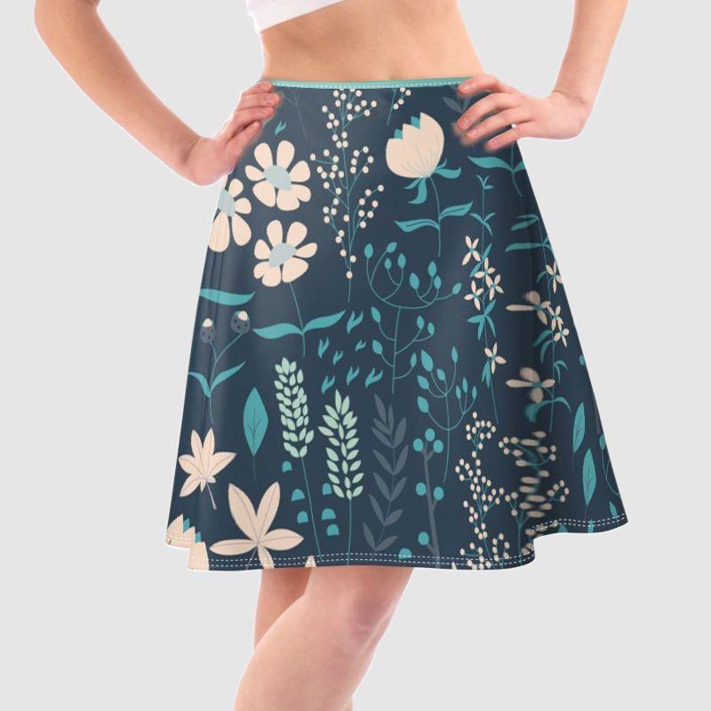 Jupe patineuse imprimée motif floral