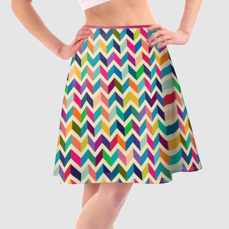 custom printed skater skirt