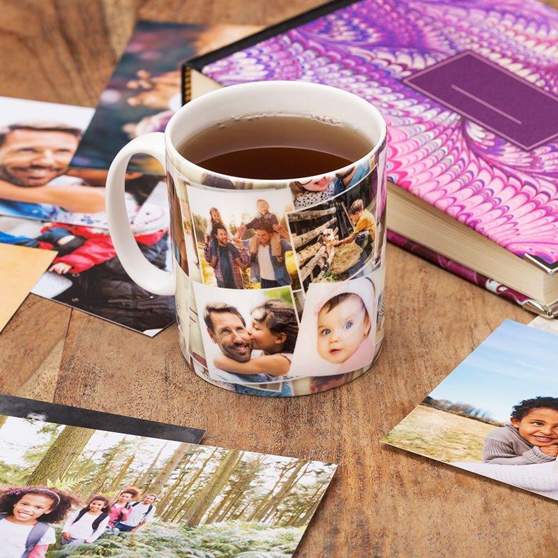 photo collage mug print your photos on bone china mugs