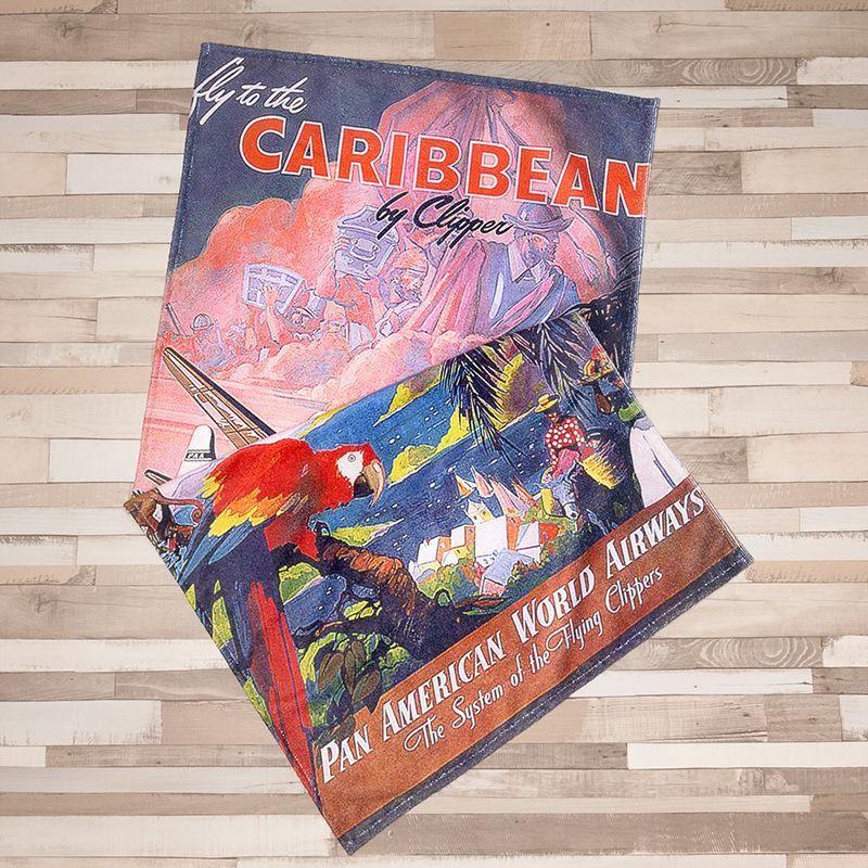 Caribbean towel for beach holiday