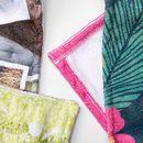 Coutures de la serviette de bain personnalisée