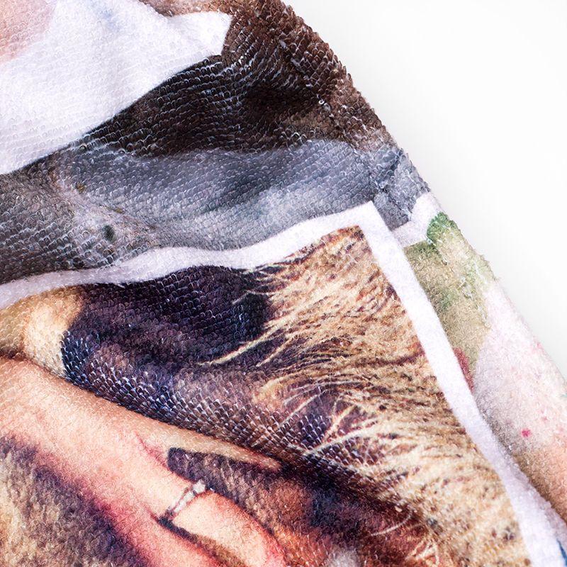 Strandtuch Bedrucken Badetuch Mit Foto 3 Für 2 Foto Handtücher