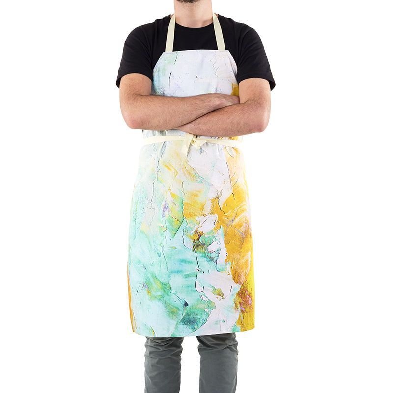 apron design with splatter