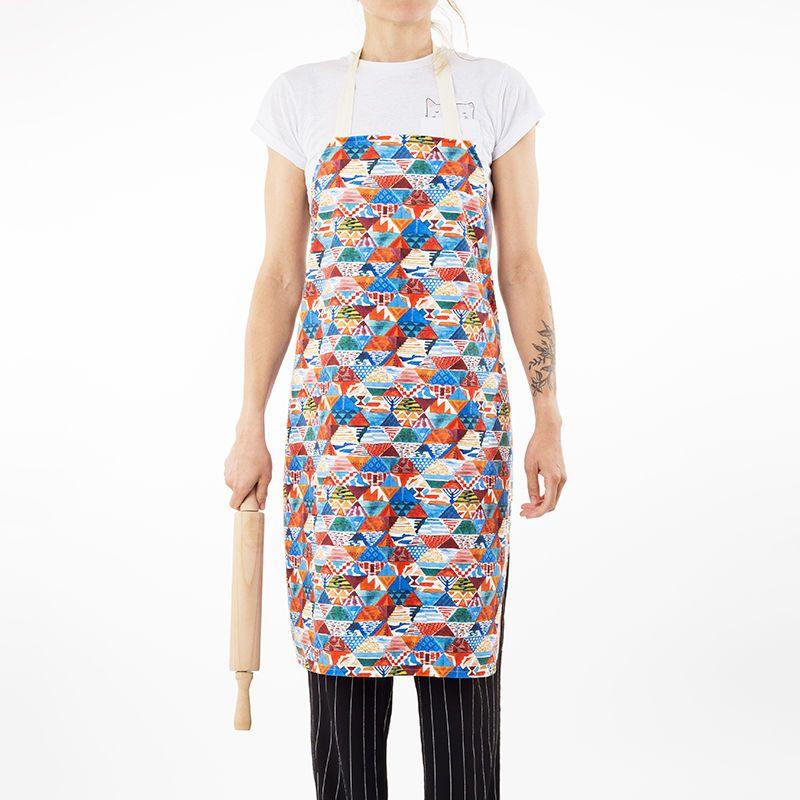 colorful custom made aprons