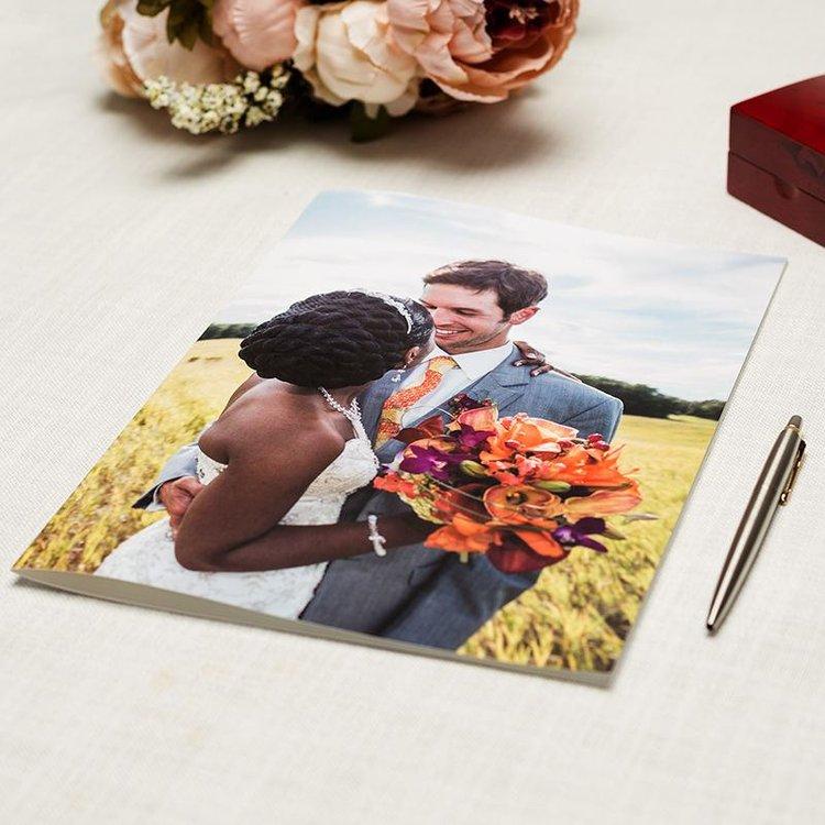 Grande carte A4 personnalisée photo mariés
