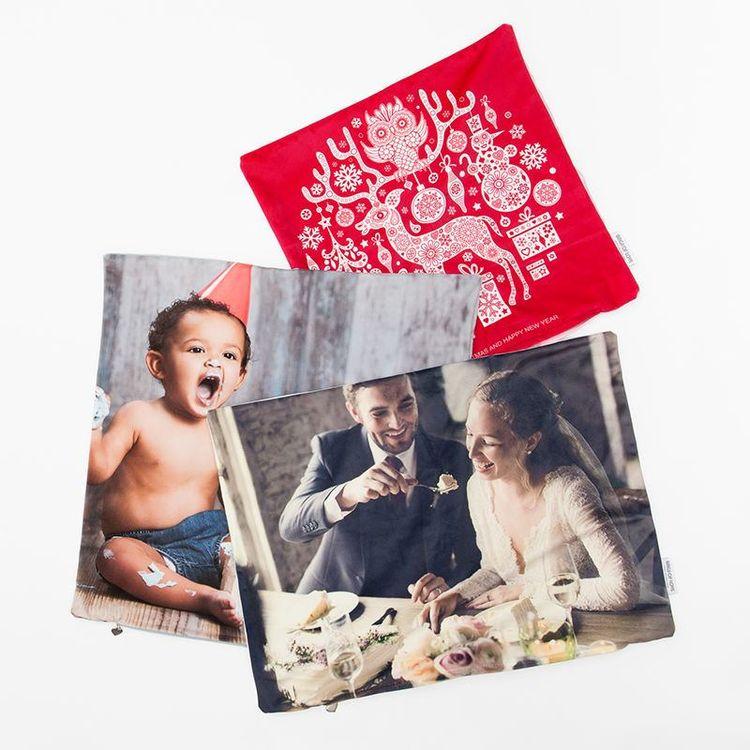 federa cuscino personalizzata foto famiglia