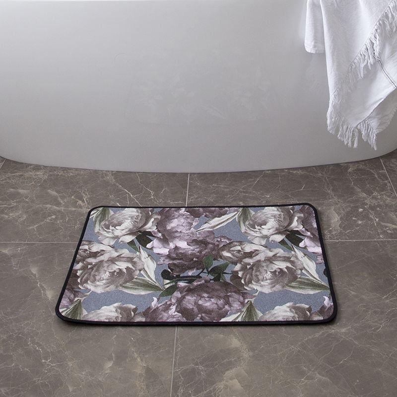 flower print custom bath mats