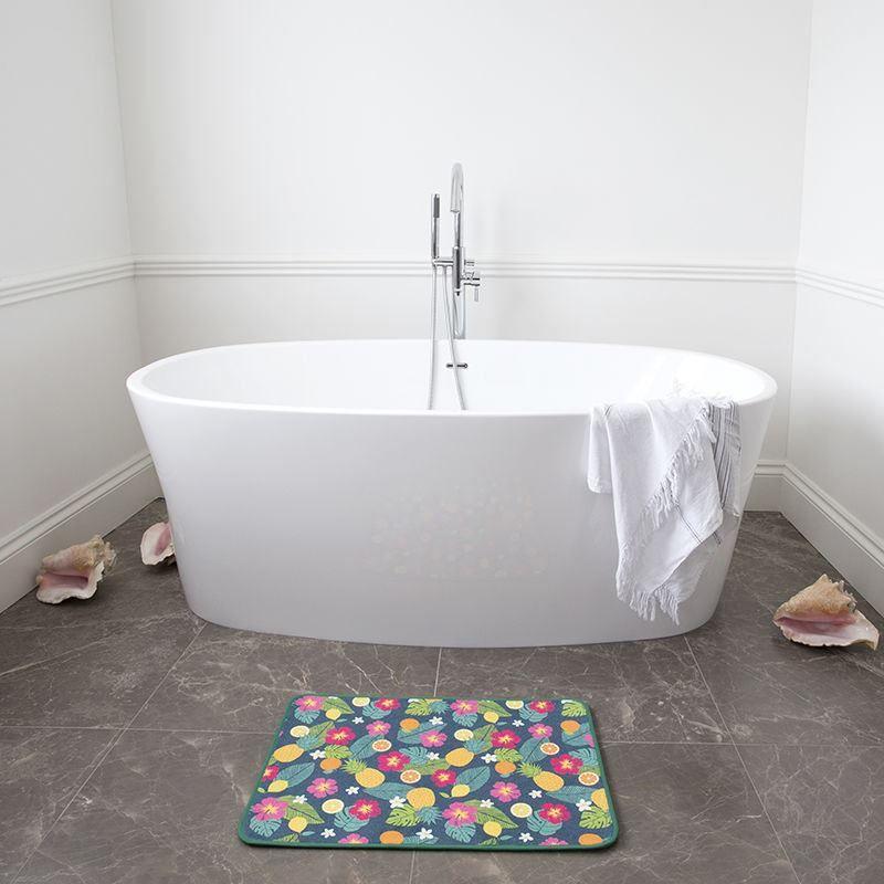 custom printed bath mats for en suite