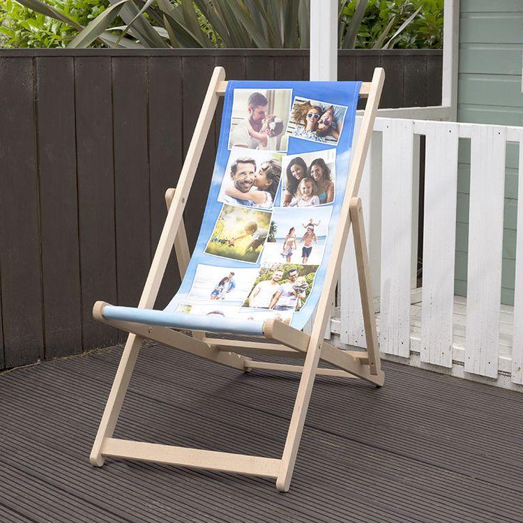 gepersonaliseerde ligstoelen met fotocollage