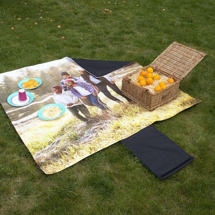 Couverture pique nique personnalisée avec photo famille