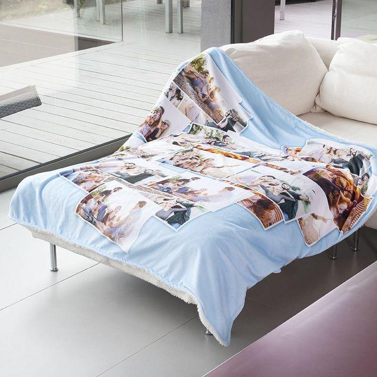 manta para sofa personalizada