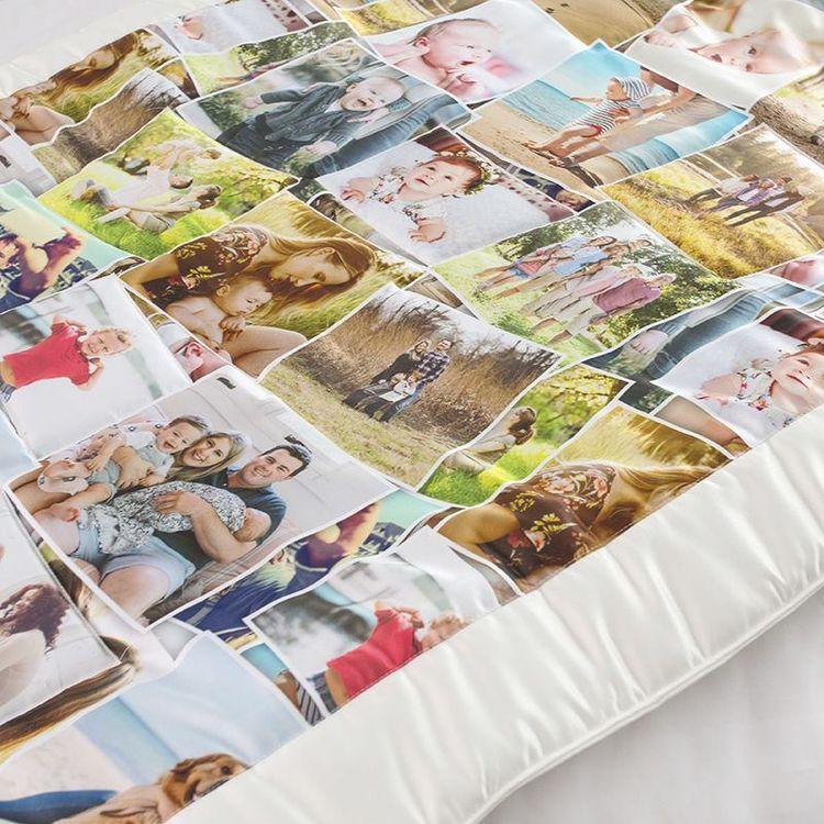 Photo montage quilt design stitching