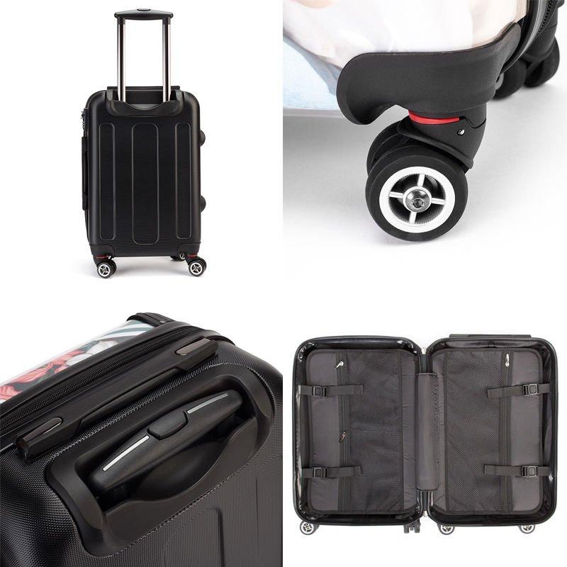 Détails de la valise personnalisée avec dessin