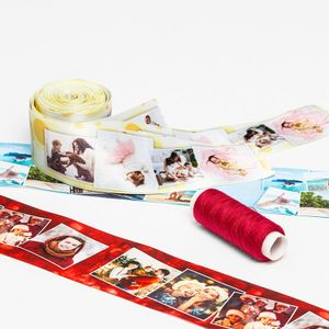 cinta de raso decoración de fiestas personalizada