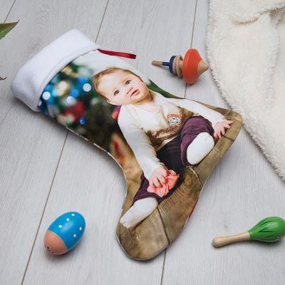 calcetín papa noel de navidad