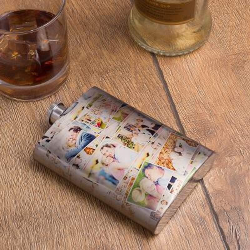 personalised hip flask with photo custom printed hip flask australia