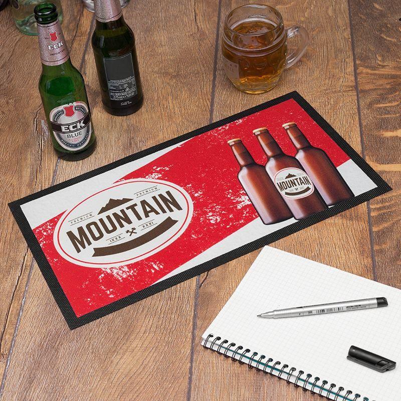 customised bar mats