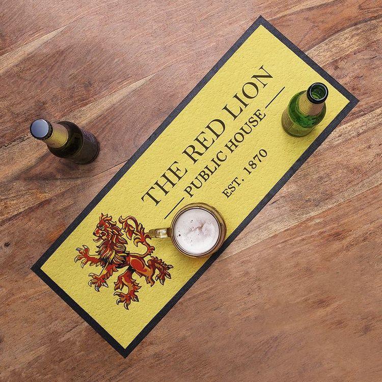 tapis de bar personnalisé avec logo