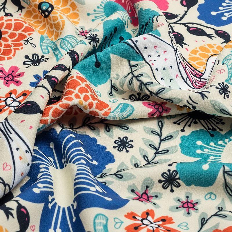 printed scuba crepe fabric