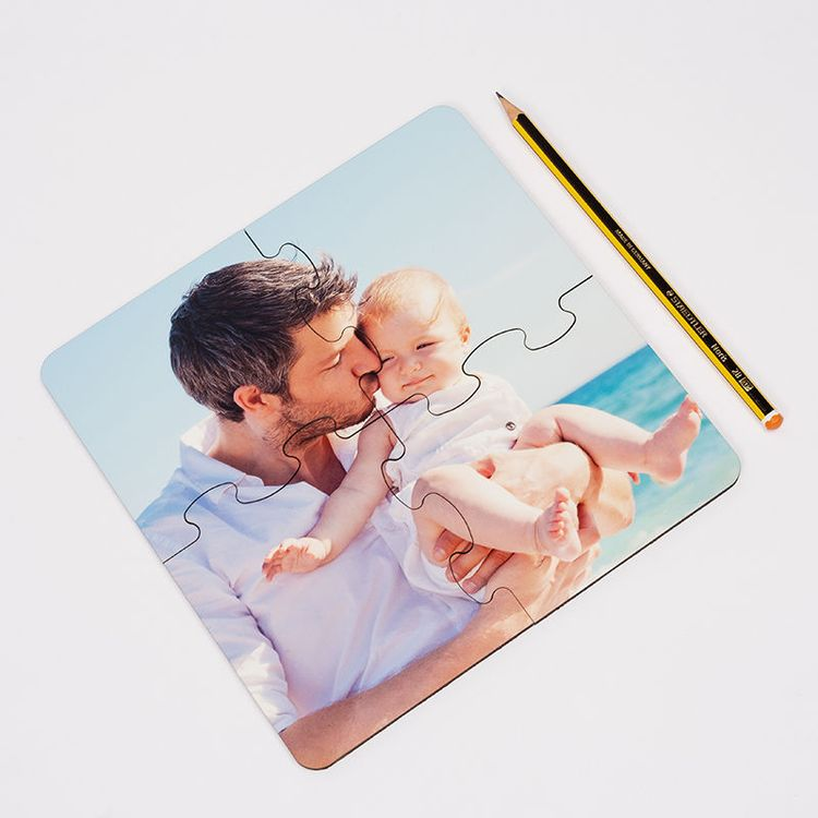 personalized photo custom jigsaw coasters