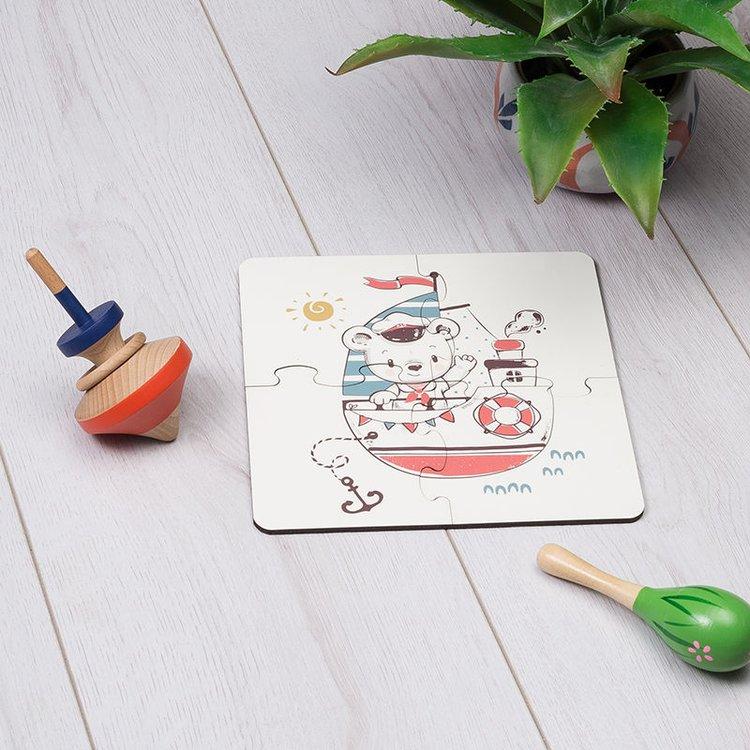 gepersonaliseerde houten baby puzzel