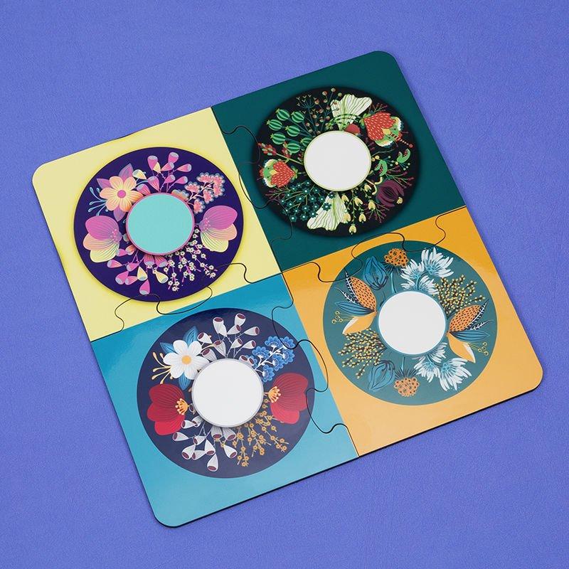 Dessous de verre puzzle personnalisé avec design