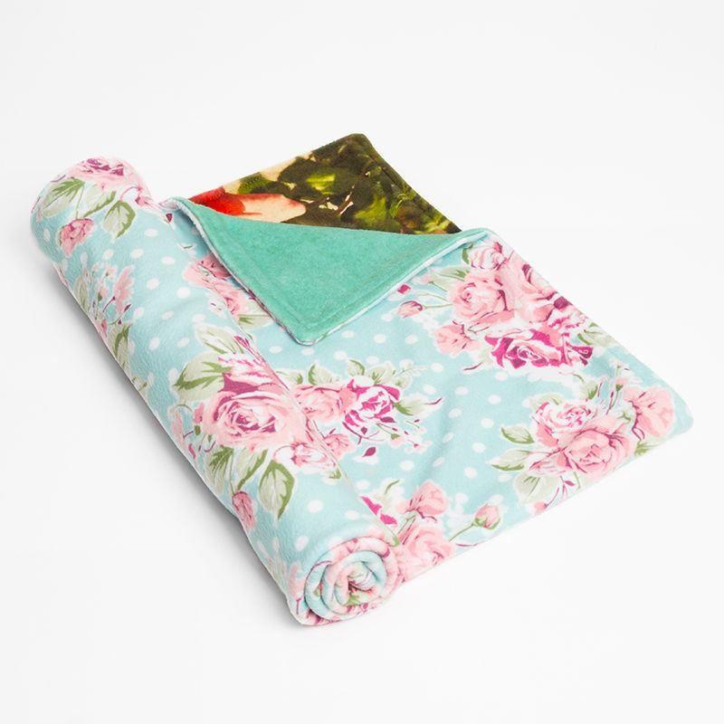 baby comfort blankets with vintage floral design