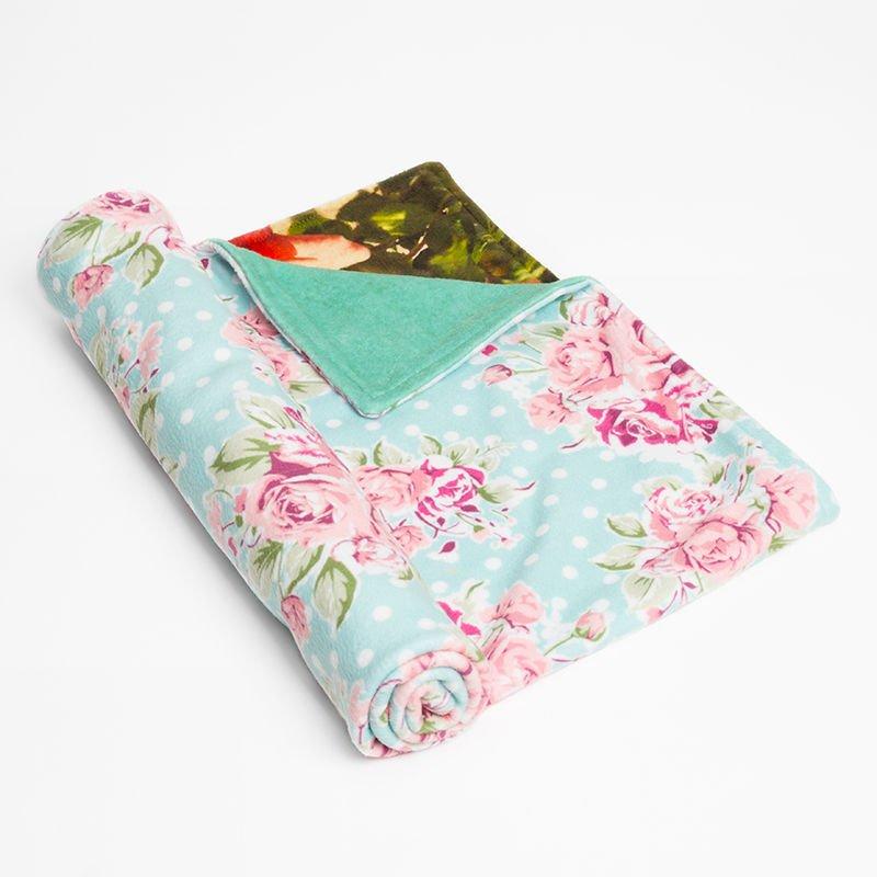 baby security blanket with vintage floral design