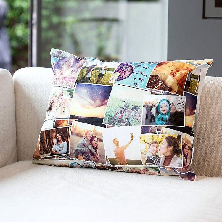 photo collage custom throw pillows