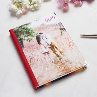 customized diary with photos
