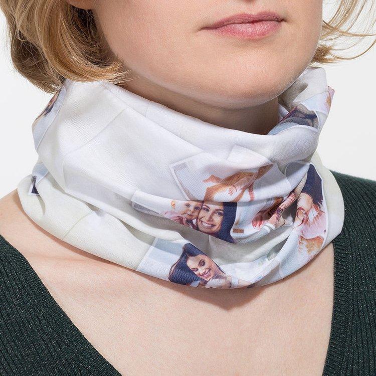 custom photo tube scarf