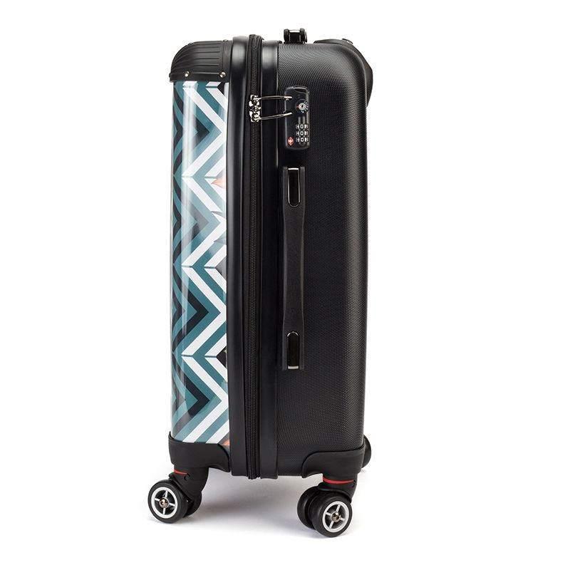4b9649e28f TSA locking details photo printed suitcase. Design Your Own Suitcase holiday