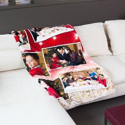 manta para sofa navideña