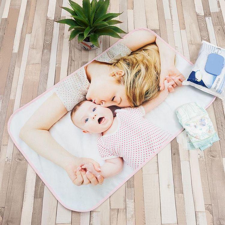 custom printed baby changing mats