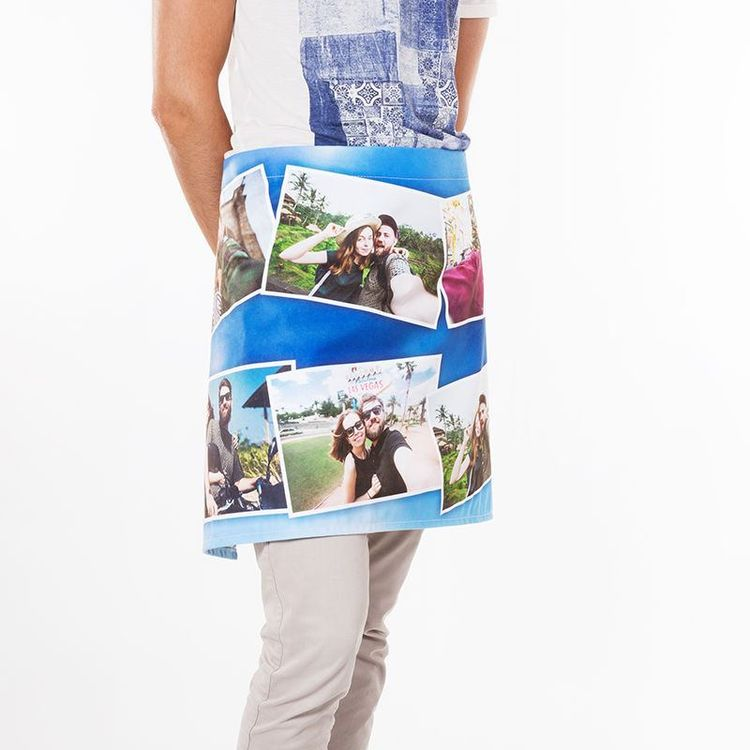 Custom printed waist apron