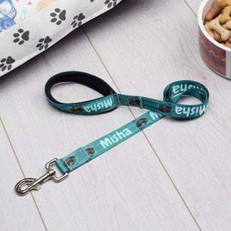 personalised name dog lead