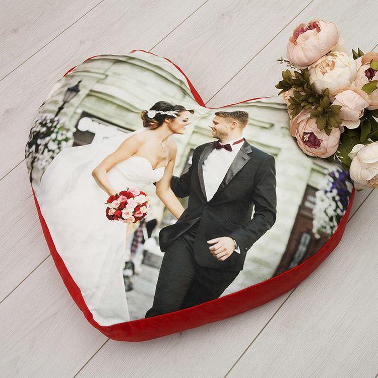 Gros coussin de sol personnalisé jeunes mariés