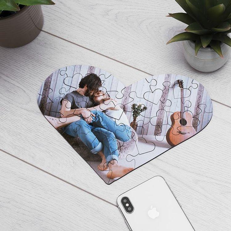 puzzles corazón personalizados