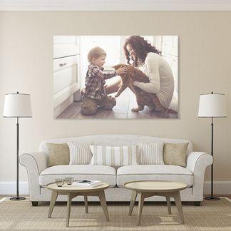 Toile photo avec grand-mère