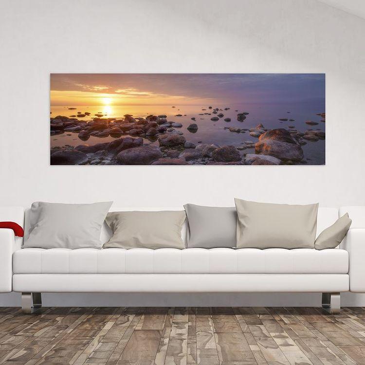 panorama on canvas of beach