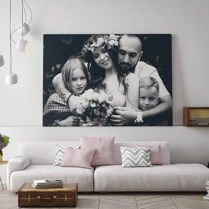 Photo To Canvas Photo Wedding Pictures Custom Canvas Prints Wall Decor Custom Canvas Canvas Wall Art Family Photos Photography Print