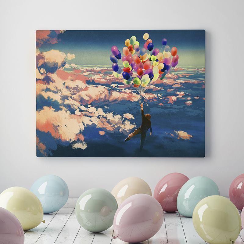 personalised wall canvas printed balloon painting