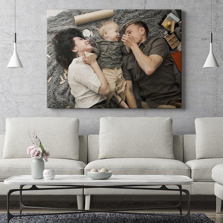 framed canvas print for lounge