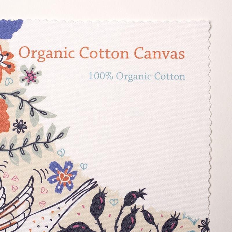 Cotone biologico canvas personalizzabile