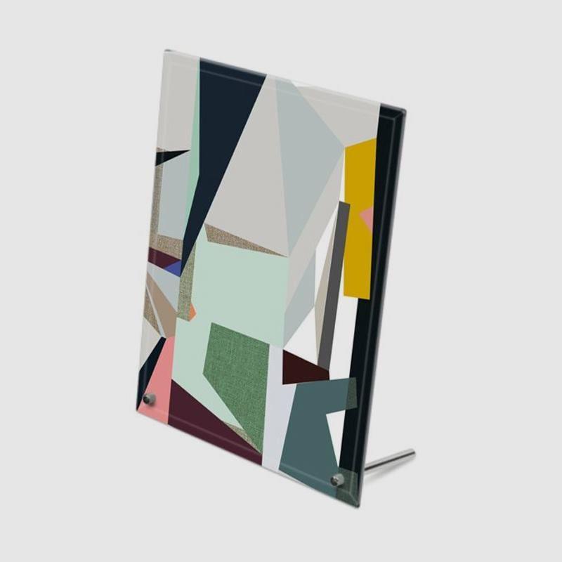 Impression sur verre avec dessin abstrait
