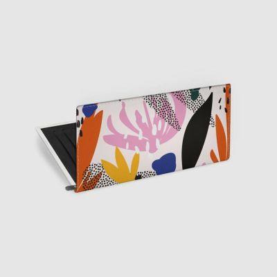 custom leather travel wallet