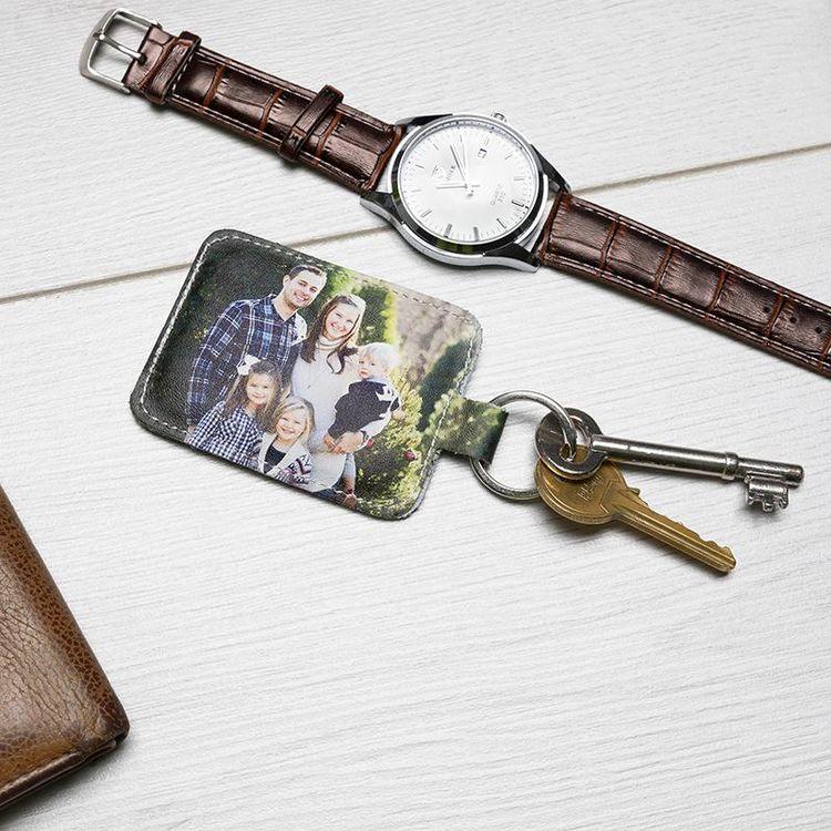 Photo Keyring Custom Made leather