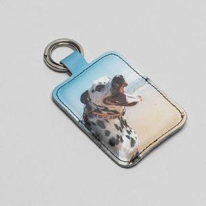design your own custom leather keyring
