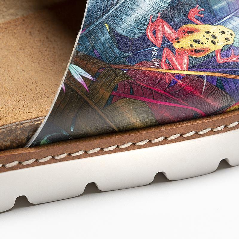 leder sandalen bedrucken lassen