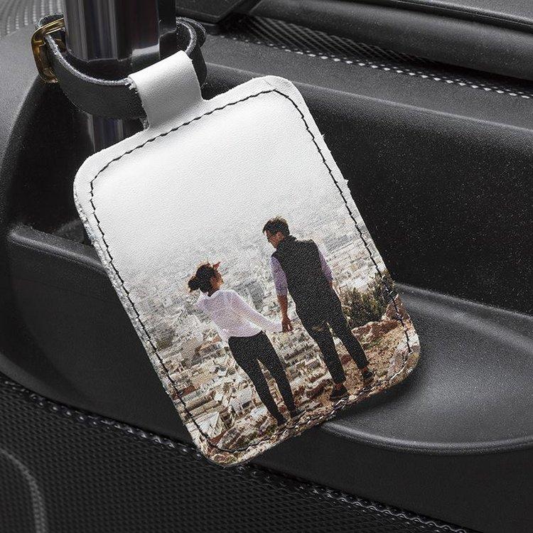 Wedding Honeymoon travel leather tag
